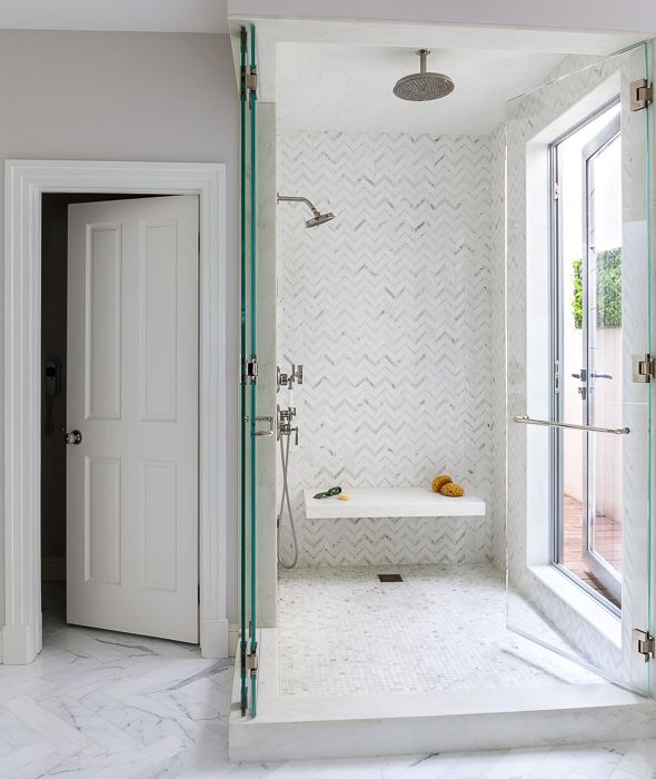 Walk In Shower Doors Part - 16: Walk In Shower With Seamless Glass Folding Shower Doors