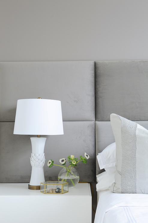 Floor To Ceiling Headboard Contemporary Bedroom