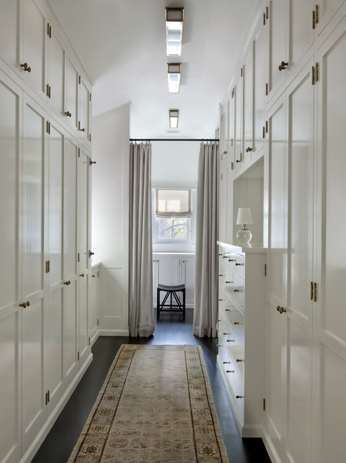 Narrow Walk In Closet Design Ideas