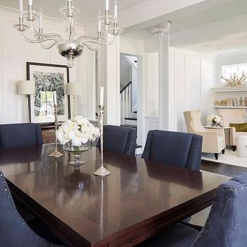 Cherry Dining Table With White Chairs Design Ideas