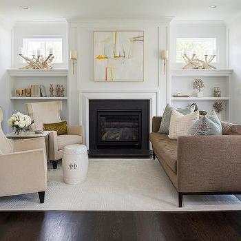 Fireplace Windows Design Ideas