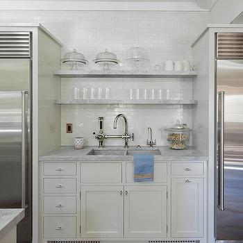stacked marble floating shelves over kitchen sink shelves over kitchen sink design ideas  rh   decorpad com