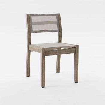 Gray Scoop Back Armless Dining Chair
