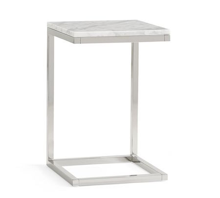 Pottery Barn Bryn Marble Top C Table Look For Less - Pottery barn marble table