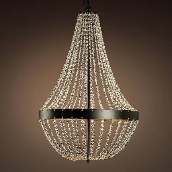 Black frame hanging crystals chandelier crystals edison bulbs chandelier view full size aloadofball Image collections