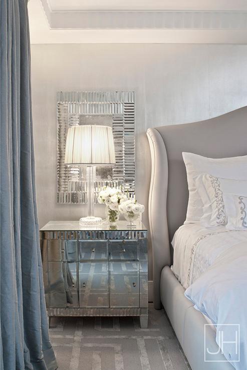 Gray and silver bedroom design contemporary bedroom for Bedroom ideas silver and white