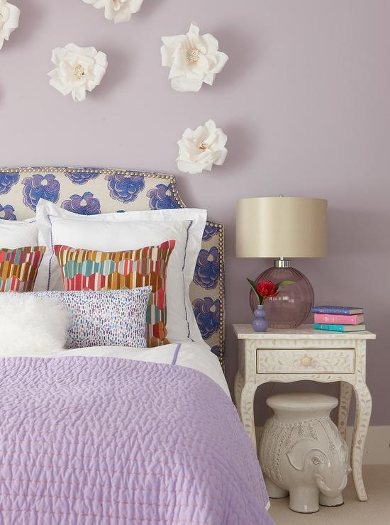 Blue And Purple Girl Bedroom With Anthropologie Knotted Melati Hanging Chair Contemporary