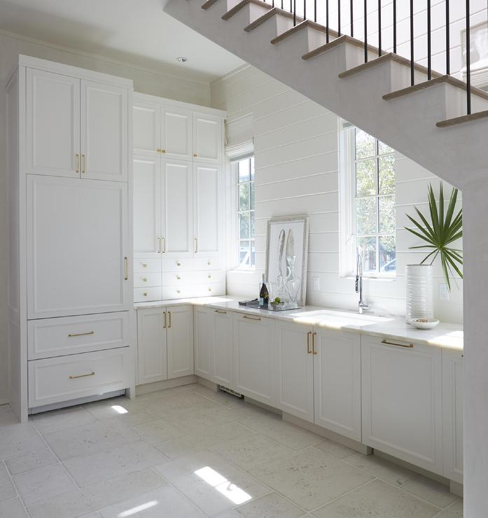 White Butler Pantry Under The Stairs