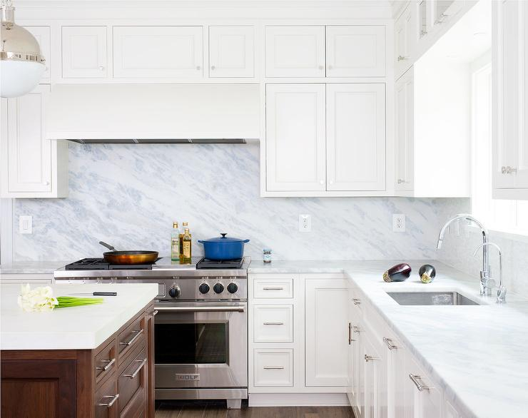 white kitchen cabinets marble backsplash pacific white marble kitchen countertops design ideas 28844