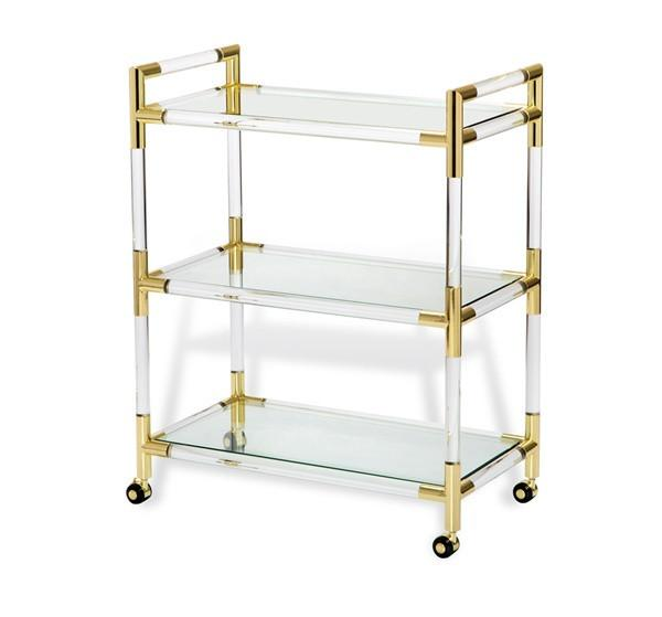 Acrylic Ghost Bar Cart
