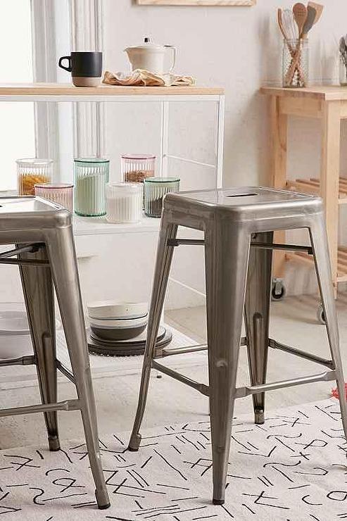 Remarkable Marius Grey Industrial Counter Stool Creativecarmelina Interior Chair Design Creativecarmelinacom