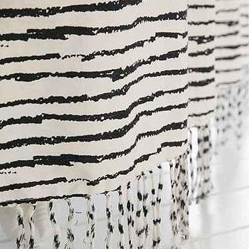Plum and Bow Tassel Fringe Grey Shower Curtain