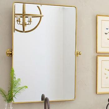 Gold Vintage Pivot Mirror