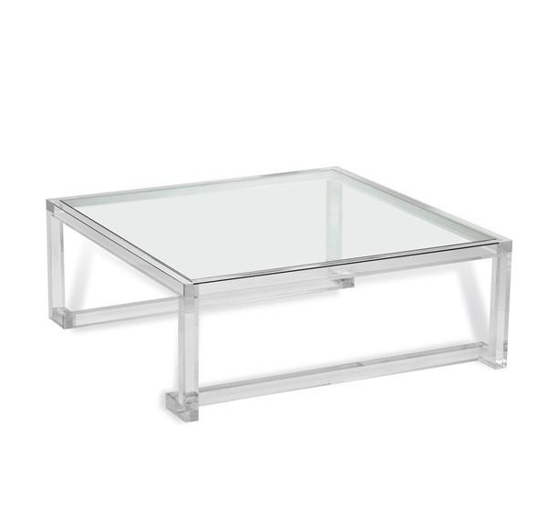 Bernhardt Acrylic Scalloped Detail Annalise Cocktail Table