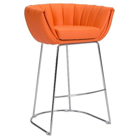 Brixton Orange Wing Chair