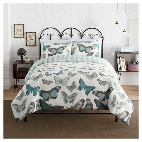 single itm set duvet double cover girls butterfly mariposa adults size king