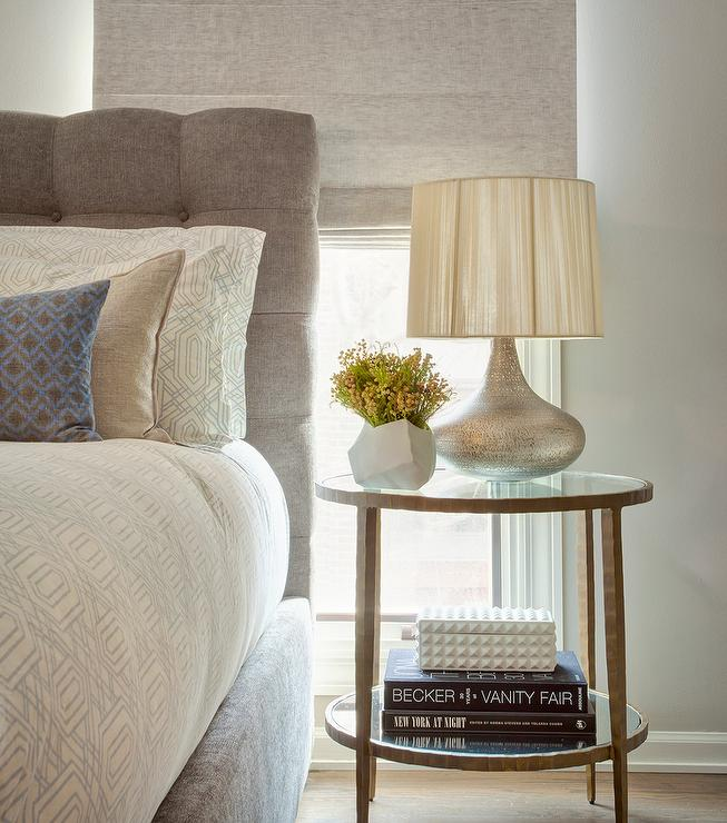 gray bedside table design ideas
