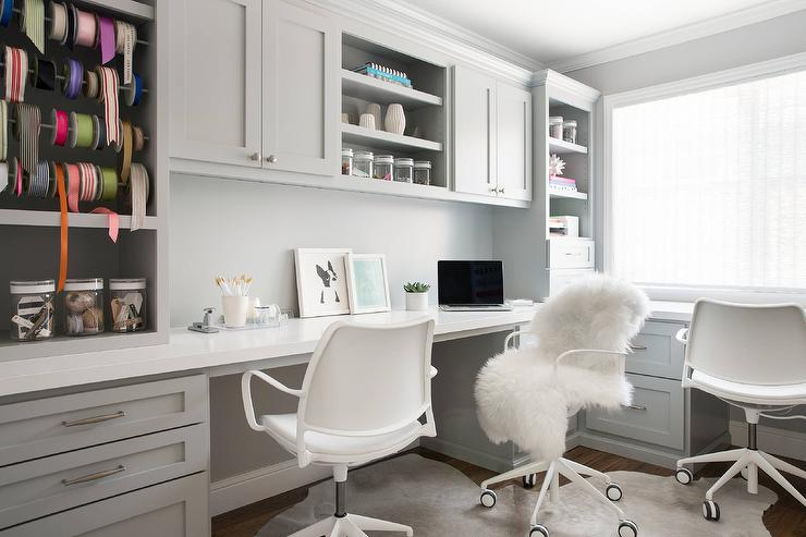 Gray Home Office