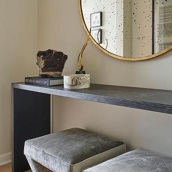 Gray Waterfall Console Table Design Ideas