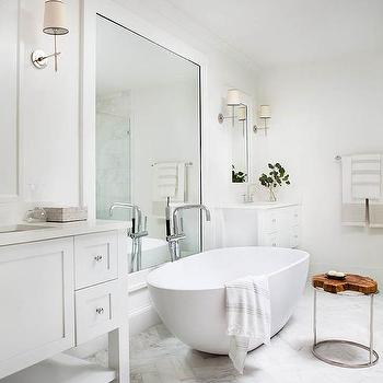 Freestanding Oval Marble Tub With Vaughan Zurich Lantern