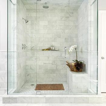 Walk In Shower For Two Transitional Bathroom