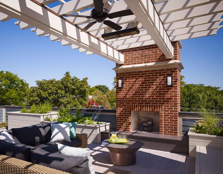 Rooftop Deck With Pergola And Built In Seating