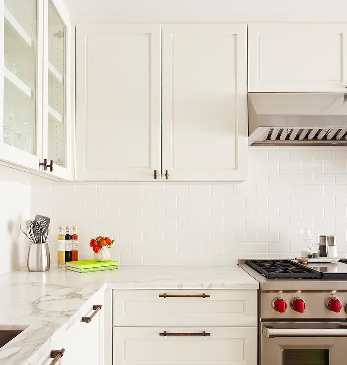 Black Kitchen Cabinets White Subway Tile: White Subway Tiles With White Grout Design Ideas