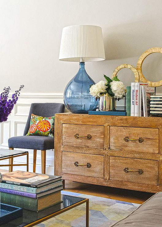 Beau Gold Living Room Dresser With Gold Pulls