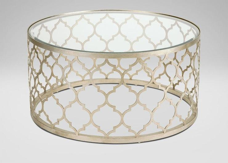 Gold Round Trellis Coffee Table