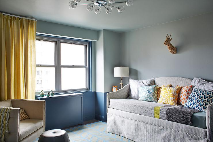 Grayish Blue Paint blue gray walls design ideas