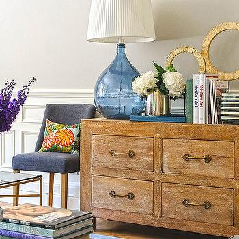 Gold Living Room Dresser With Pulls