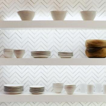 Gray Floating Shelves Design Ideas