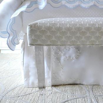 Lucite Bench Contemporary Bedroom Elle Decor
