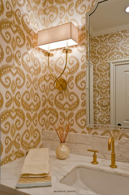 Wallpaper For Powder Rooms Design Ideas