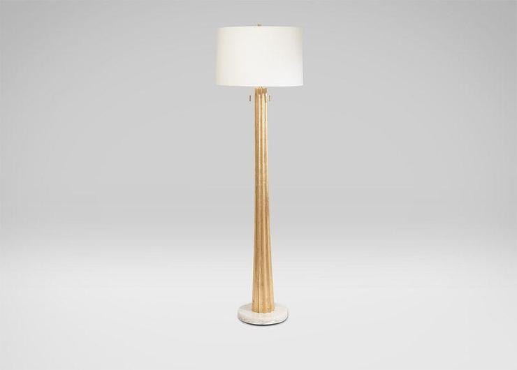 Wooden gold floor lamp ribbed wooden gold floor lamp audiocablefo