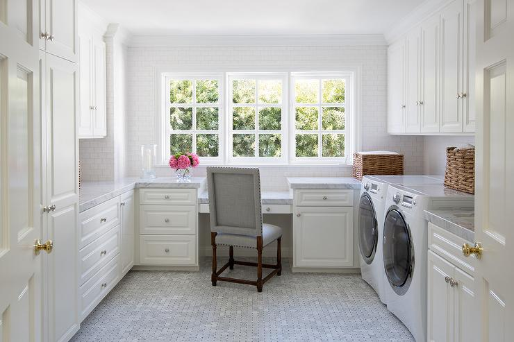 Fresh Laundry Room Office Combo