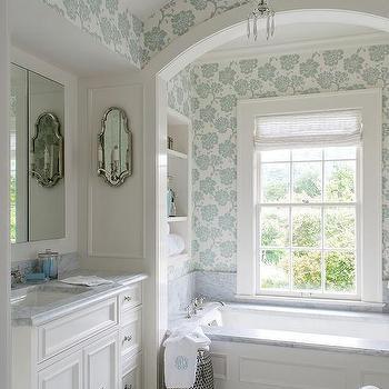 Recessed Shelves Over Tub Design Ideas