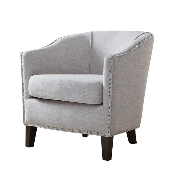 nailhead barrel arm chair