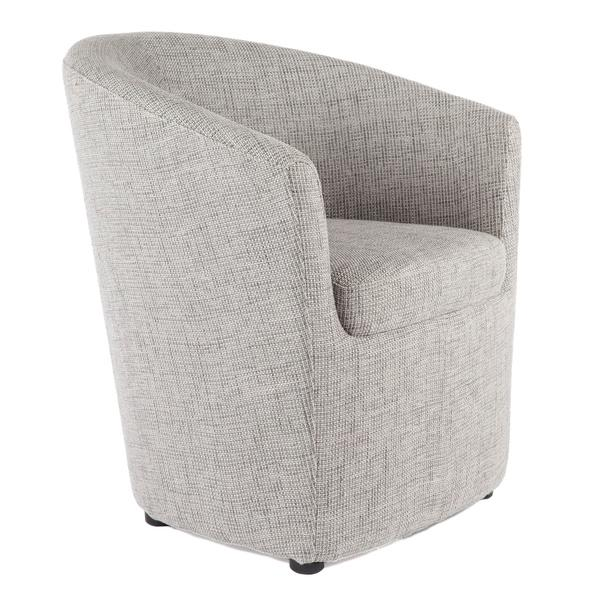 Gray Round Back Lounge Chair