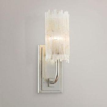 White Crystal Wall Sconces : Callia Crystal Droplet Sconce