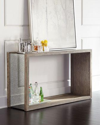 quality design 914ec 24892 Wooden Frame Mirrored Open Console Table