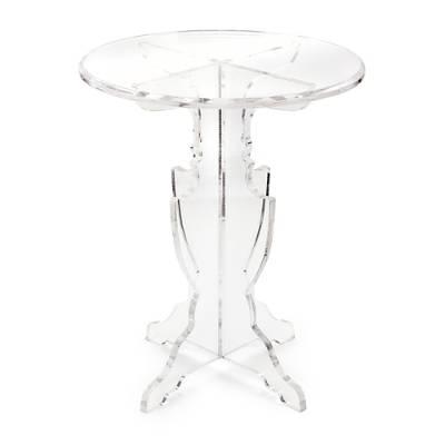 Attractive Round Top Transparent Acrylic Accent Table