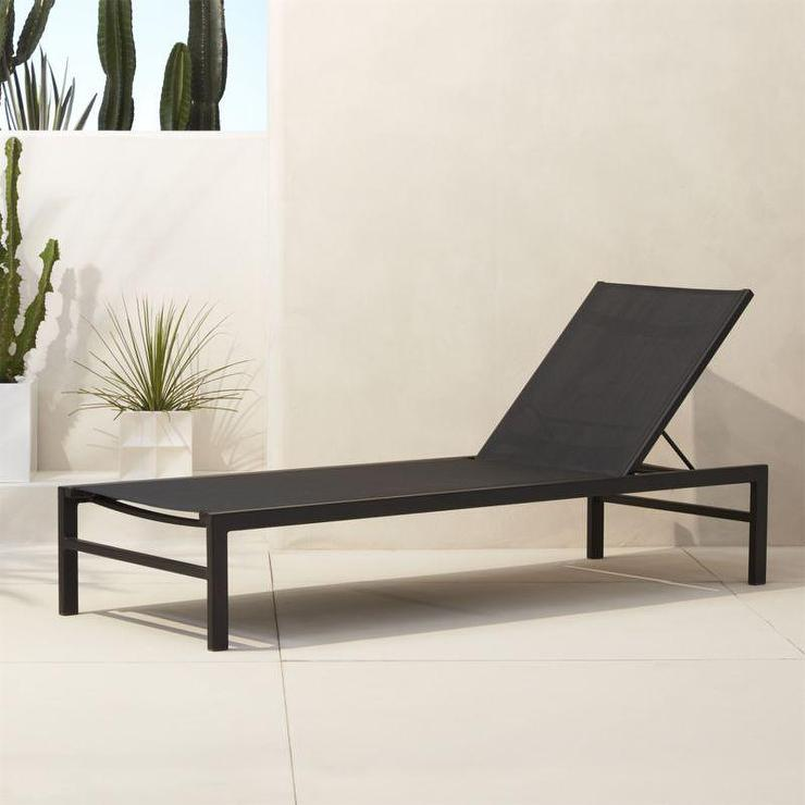Kiwi rocha chaise lounge with sunbrella cushion for Black and white striped chaise lounge cushions