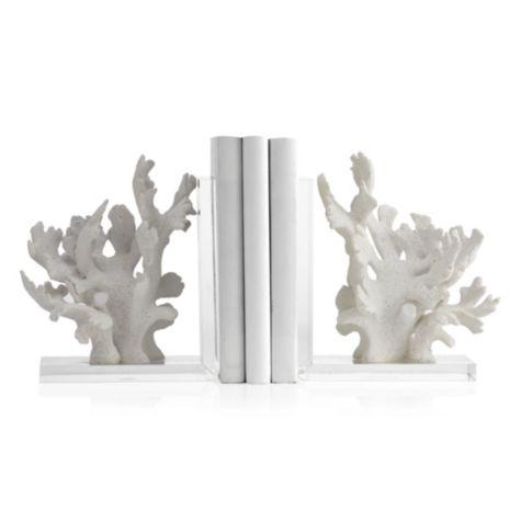 Sea Coral White Bookends