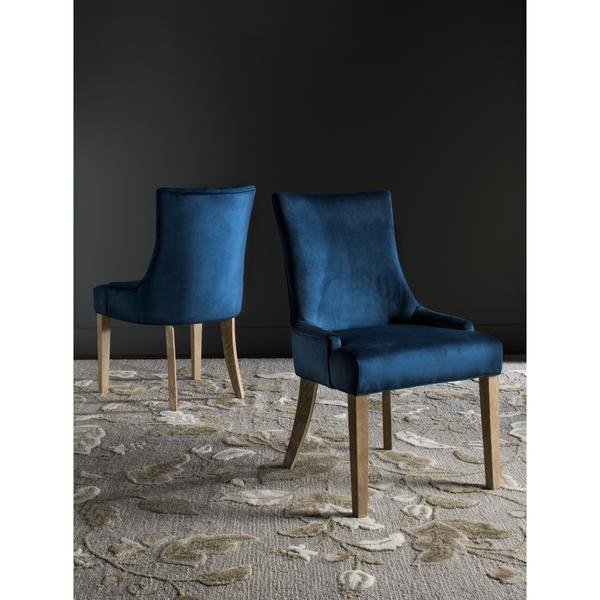 Navy English Arm Dining Chair