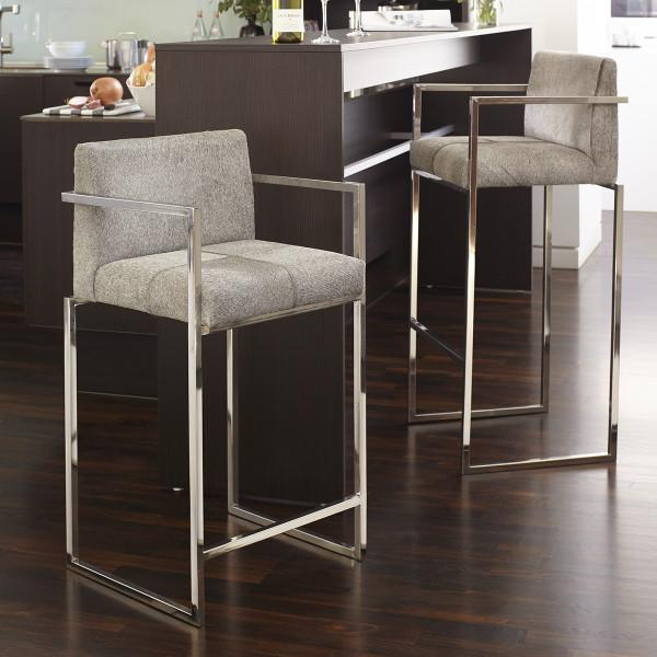Hair On Hide Gray Bar Stool