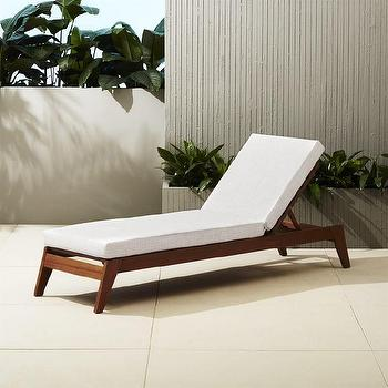 Black and white stripe wooden outdoor lounger for Black and white striped chaise lounge cushions