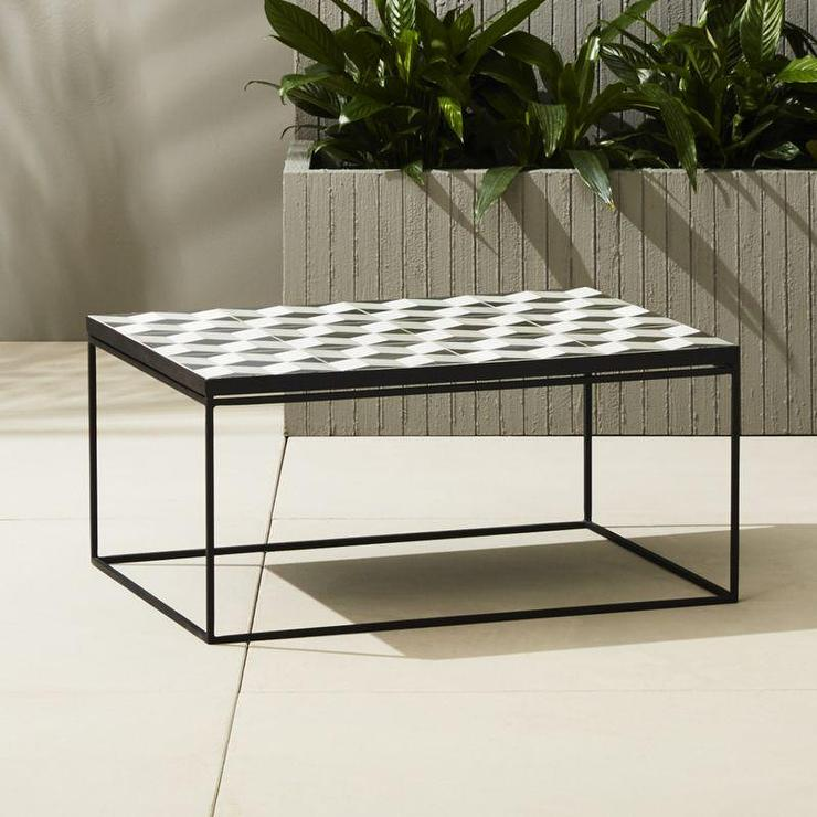 Optical Illusion Black And White Coffee Table