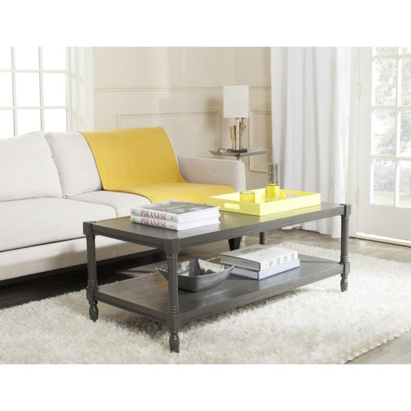 Gray Storage Rectangle Coffee Table