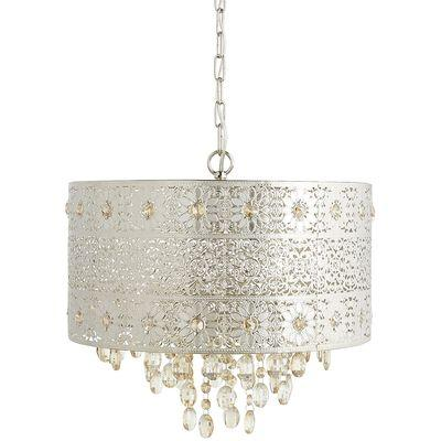 Bohemian crystal silver round chandelier mozeypictures Images